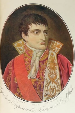 Napoléon, gravure de Ambroise Louis Garneray. Image libre de droits.