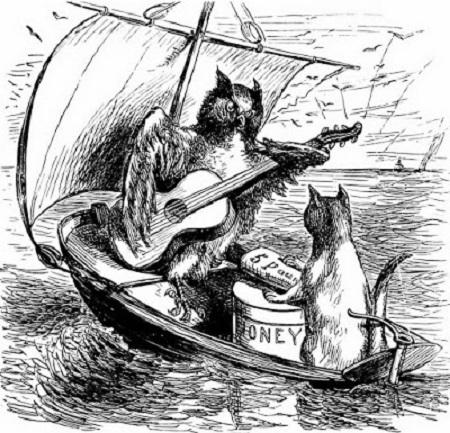 Le voyage est une partie des tourments. Illustration de Edward Lear.