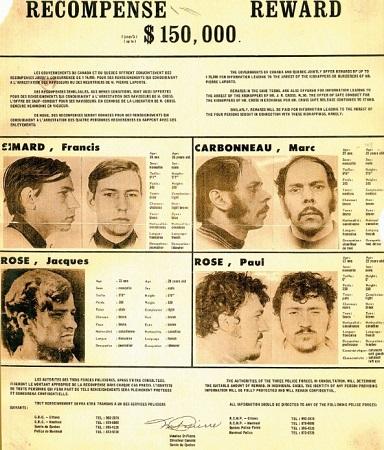 Recompense pour les terroristes, affiche publicitaire de 1970. Image libre de droits.