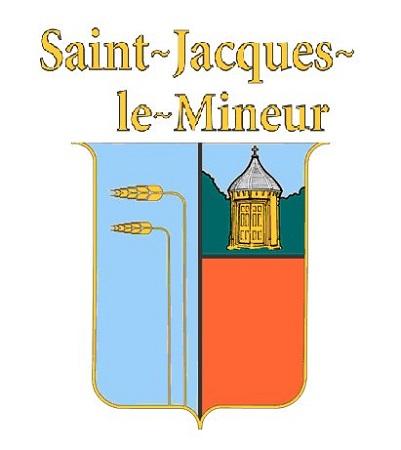 Armoiries de la municipalité de Saint-Jacques-le-Mineur. Source de l'image : Site Web de la municipalité.