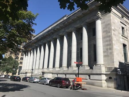 Ancien Palais de justice de Montréal. Aujourd'hui, la Cour d'appel. Photo de Megan Jorgensen.