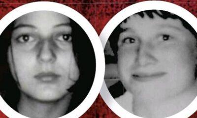 Il ne reste de ce monde que tourments et désastres.Denise Picard et Suzanne Gilbert. Photos de l'époque, image libre de droits.