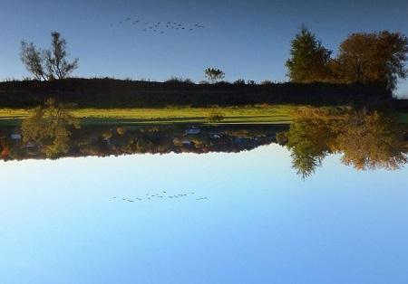 Plaine alluviale en face du village de Roxton Falls le long de la Rivière Noire. Source de l'Image : Wikipédia, auteur Pandries.