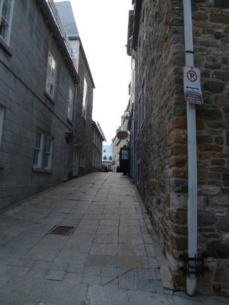 Rue St-Pierre au coeur du Vieux-Québec. Photo de Megan Jorgensen.