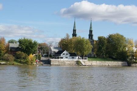 Vue sur Saint-Denis-sur-Richelieu. Source de la photo : Site Web de la municipalité.