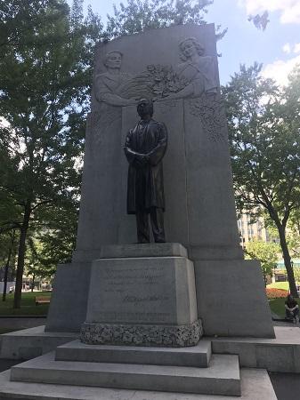 Monument à Sir Wilfrid Laurier. Photo par Megan Jorgensen.
