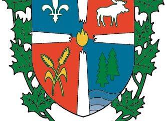 Armoiries de Saint-Elzéar-de-Témiscouata. Source de l'image : Site Web de la municipalité.