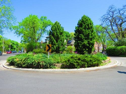 La place centrale du quartier de Rosedale. Photo de Megan Jorgensen.
