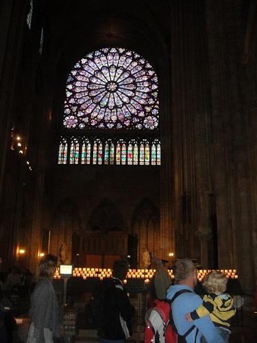 Vitrages de la Basilique Notre-Dame de Montréal. Photo de Megan Jorgensen.