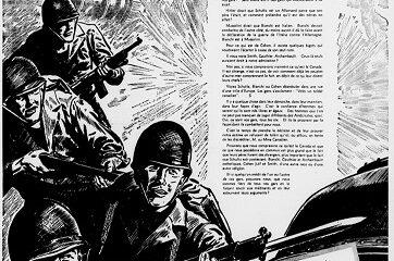 """La page avec l'appel d'acheter les obligations de la Victoire pour """"hâter la Victoire"""". Photo parue dans les journaux en novembre 1943, image libre de droits."""