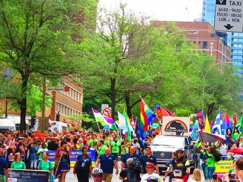 Une manifestation publique à Montréal au XXIe siècle. Photo de Megan Jorgensen.