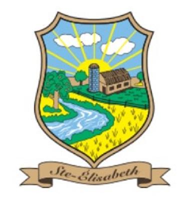 Armoiries de Sainte-Elisabeth. Source de l'image : Site Web de la municipalité de Sainte-Elisabeth.