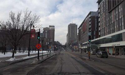 Ville en hiver. Photo de GrandQuebec.com.