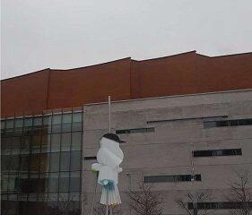 Arts montréalais. Hiver. Photo de GrandQuebec.com.