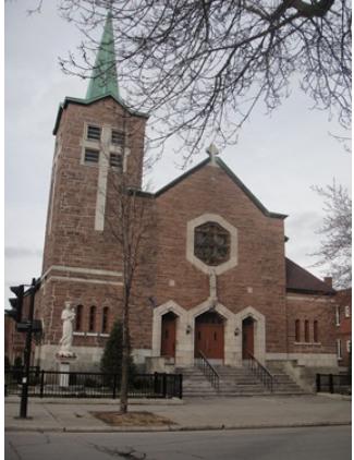 Église Saint-Philippe, adresse : 1420, rue Bélanger, coin rue Lanaudière, quartier La Petite-Patrie de l'arrondissement Rosemont-La Petite-Patrie : © GrandQuebec.com.