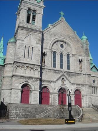Église de Saint-Eusèbe-de-Verceil. Adresse : 2151, rue Fullum, H2K 3P1. Photo : © GrandQuebec.com.
