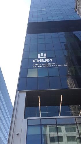 Édifice du CHUM. Photo de GrandQuebec.com.