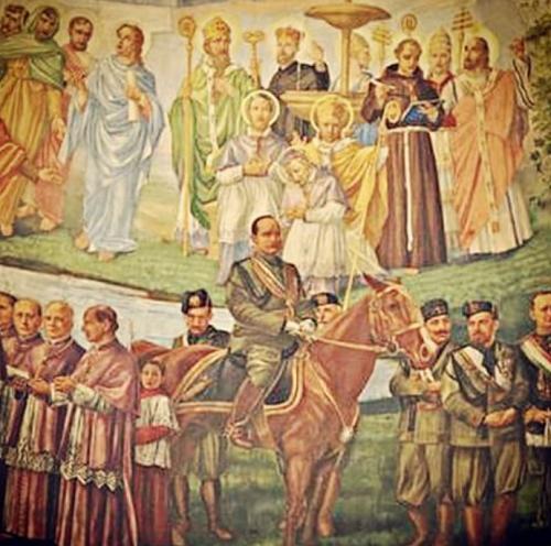 Fresque de l'église Notre-Dame-de-la-Défense