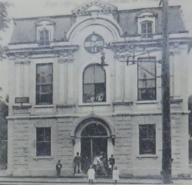 Bureau de poste en 1910
