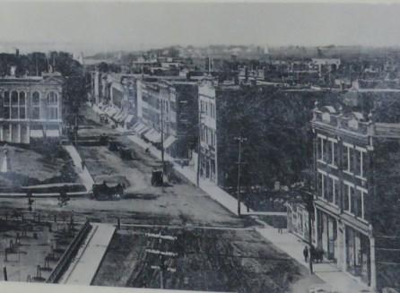 Rue Notre-Dame après l'incendie
