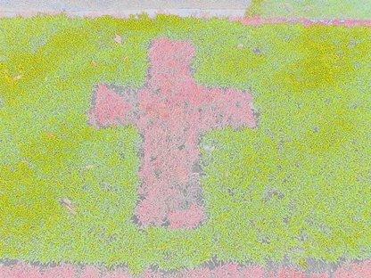 Croix en fleurs