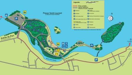plan du parc des îles de st-timothée