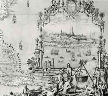 carte du fleuve St-Laurent par Franquelin