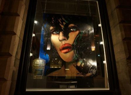 Une vitrine de la rue Saint-Paul à Montréal