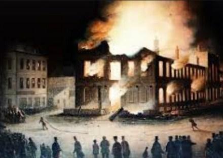 Incendie du parlement à Montréal