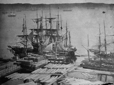 Port de Québec au 19e siècle