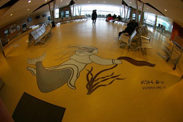 Aéroport de Kuujjuaq, Copyright © Gilles Boutin, site Web banditdenuit.com.