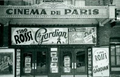 Cinéma de Paris.Cinéma de Paris de Montréal. Photographie des années 1910, image libre des droits.
