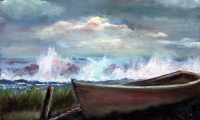 Matane-sur-Mer, toile de Marie-Hélène Massé