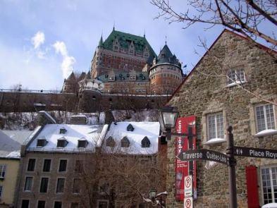 Château Frontenac, ville de Québec. Photo de GrandQuebec.com.