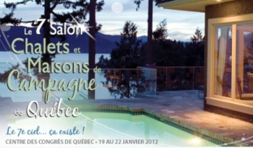 Salon chalets maisons de campagne voyage travers le for Salon maison de campagne