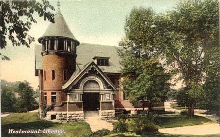 Bibliothèque de Westmount. Carte postale.