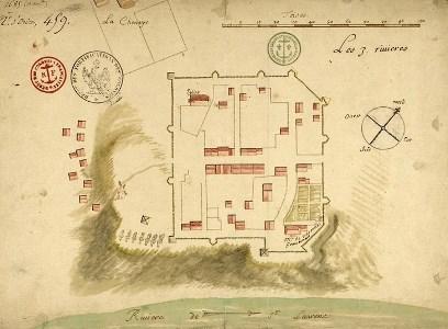 Plan de Trois-Rivières de 1685
