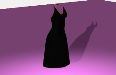 Robe noire en soirée