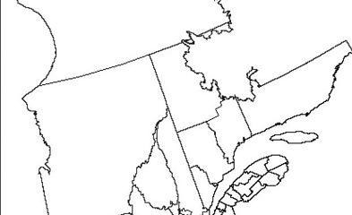 Région de la Côte-du-Sud et sa place sur la carte géographique du Québec. Image libre de droits.