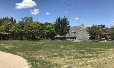 Square Iberville, dans le quartier de la Petite Bourgogne. Photographie de Megan Jorgensen.