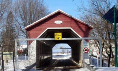 Pont couvert Grandchamps. Photographie : site web de la municipalité.