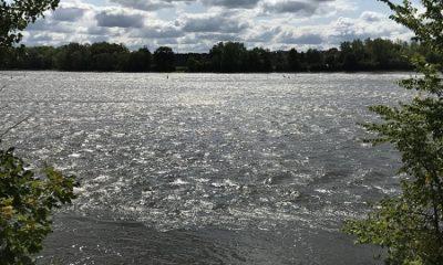 Rapides à Sainte-Dorothée à Laval, sur la rivière des Prairies. Photographie de Megan Jorgensen.