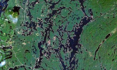 Réservoir Cabonga. Image satellite. Source de la photographie : NASA, image libre de droits.