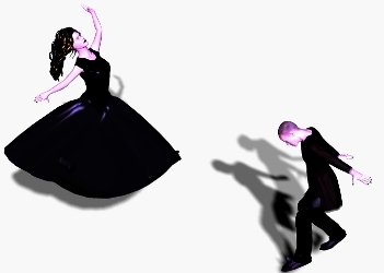 goth couple dancing ballet