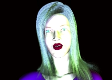 Virtual Beautiful Young Woman With Green Eyes