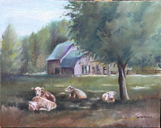 À l'ombre, peinture de Marie-Hélène Massé