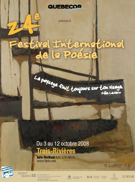 Affiche festival de la poésie