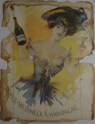 affiche champagne