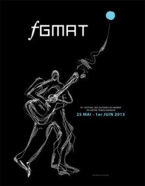 affiche festival guitarres du monde