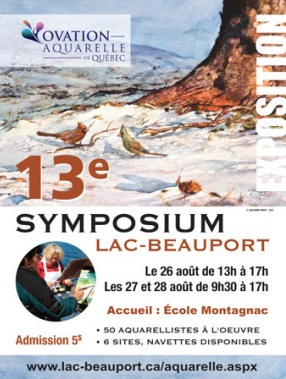 affiche symposium lac beauport